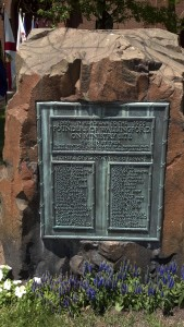 Photo of founders' memorial
